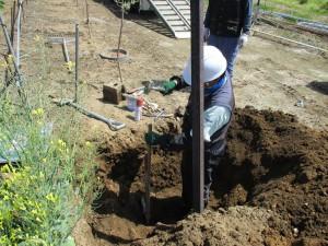 固定式散水施設の更新 施工中(3)