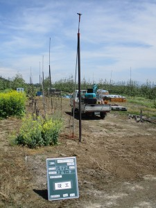 固定式散水施設の更新 竣工